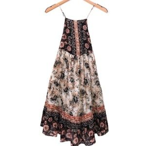 Free People Floral Print Dress